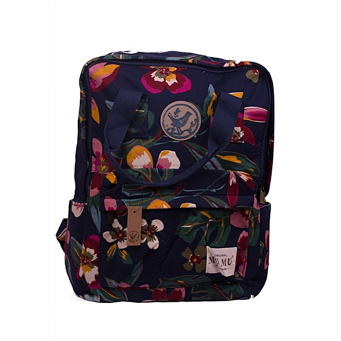 3776fe6a5a35 Generic Stylish Ladies Navy Blue and Maroon Mixed Floral Canvas ...