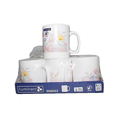 Luminarc 6 Piece Cup Set White At Best Price Jumia Kenya