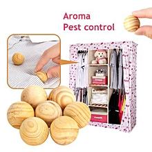 50Pcs/Pack Fragrant Moth Balls Cedar Wood Camphor Mothball Insect Prevent