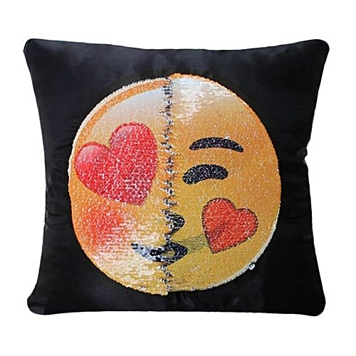 Buy Generic Cute Changing Face Emoji Decorative Pillows Sequin Mesmerizing Cute Cheap Decorative Pillows