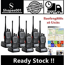 LEBAIQI  (6 Units) BaoFeng BF-888S 16 Channel Walkie Talkie Set UHF 5W - Mobile Gadget/Tv Audio/Video/Gaming [Fast Delivery]