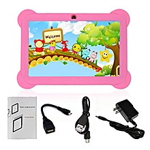 Q88 7-Inch Children Tablet 512MB+8GB US Plug Kids Pad Students Learning Tablet pink