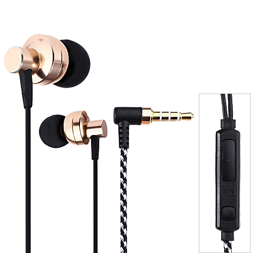 SUR S808 HiFi In-ear 3.5MM Plug Stereo Music Earphones With Mic(GOLDEN)