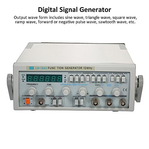 LW-1643 Wave Digital Function Signal Generator 0 1Hz-10MHz Frequency AC 220V