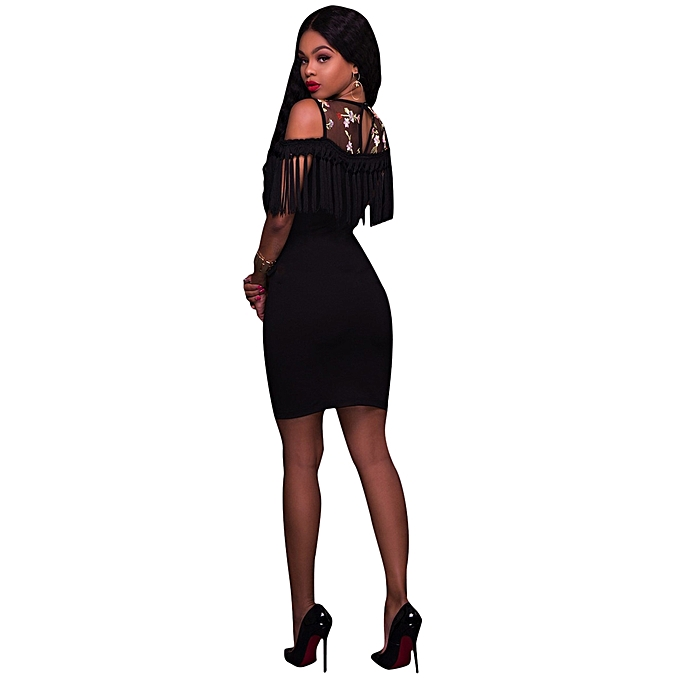 7b33828be47c Fashion Women Off Shoulder Ruffle Velvet Sexy Dresses Party Night Club Dress  Bodycon Sheath Elegant Dress-black