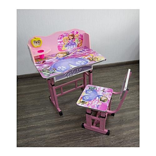 Kids Study Desk And Chair Set Children Work Station