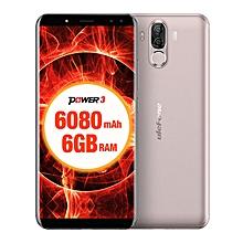 "POWER 3  6080mAh,(6GB RAM 64GB ROM) Helio P23 Octa Core, 6.0""Corning Gorilla Glass FHD+ ,(Quad Camera) Android 7.1 4G LTE Smartphone Gold"