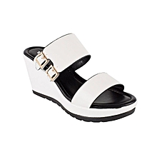 White Ladies Platform Shoes