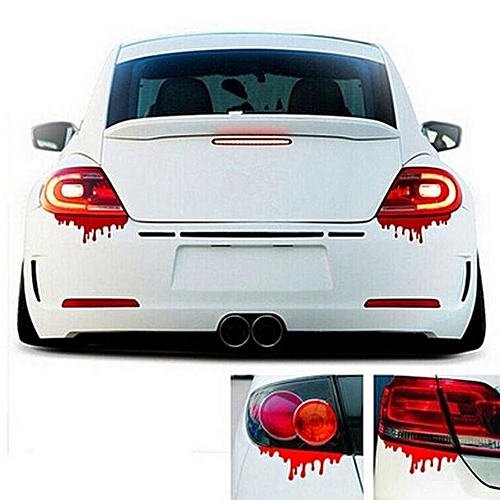 Red blood car stickers reflective car decals light bumper body sticker decal rd