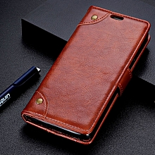 Copper Buckle Nappa Texture Horizontal Flip Leather Case for Xiaomi Mi Play, with Holder & Card Slots & Wallet (Brown)
