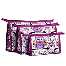 bluerdream-3pcs  Cosmetic Toiletry  Travel Wash Makeup Bag Holder Pouch Kits Set-AS Shown
