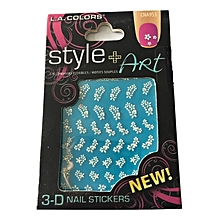 3D Nail Stickers - Flowers with Studs