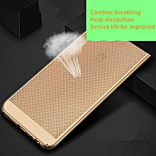 Ultra Slim Full Body Mesh Design Hard PC Heat Dissipation Shockproof Protective Case Cover for Samsung Galaxy S6 Edge Plus   XXZ-Z