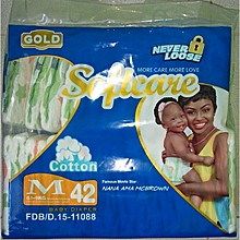 Gold Baby Diapers for Babies 6-9 Kgs Medium Unisex - 42 Diapers