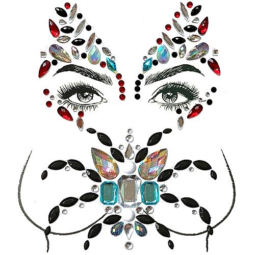 bb7e487923 Big Classic Ceremony Face Breast Bling Gem Kit Cluster Self Adhesive  Sticker On Jewels Body Decoration Rhinestone Temporary Tattoo Jewels  Festival ...