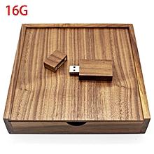 Walnut Photo Album Box USB Flash Drive  8GB 16GB 32GB 64GB USB2.0 Memory Stick brown