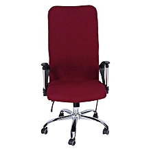 Removable Stretch Swivel Chair Covers Comfortable Slipcovers (Burgundy M)