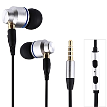 JBMMJ SUR S530 3.5MM Dynamic Stereo Super Bass Earphones In-ear with Microphone - SILVER