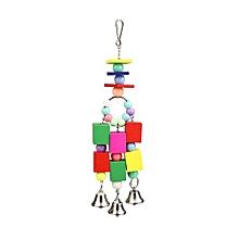 Mini Bird Acrylic Blocks String Toys Chewing Swing Cage Fun Accessories