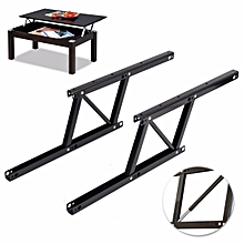 1 Pair Lift Up Top Coffee Table Lifting Frame Mechanism Spring Hinge Hardware