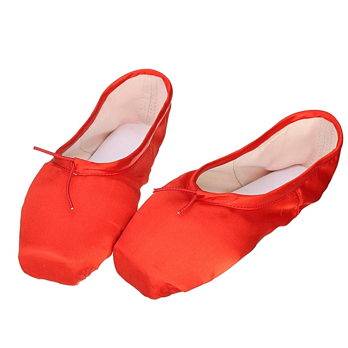 8d229cdd27 Women Pink Ballet Dance Toe shoes Professional Ladies Satin Pointe Shoes  Silk red