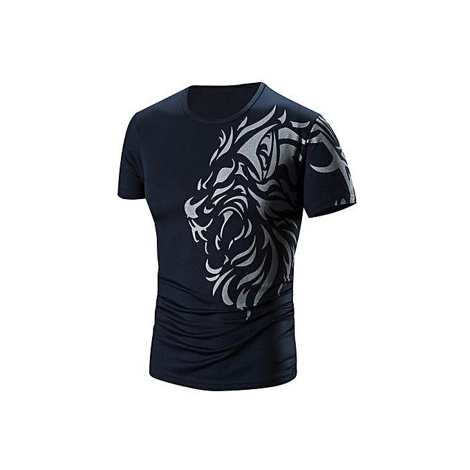 3ed9189ffc0 Generic Tectores  Men Summer Fashion Printing Men s Short-sleeved T ...