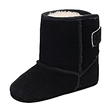 bluerdream-Baby Girl Boys Soft Sole Booties Snow Boots Infant Toddler Newborn Warming Shoes-Black