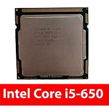 Core i5-650 SLBTJ Processor 4MB Cache, 3.20 GHz core i5 processor