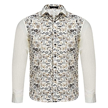 Floral Print Long Sleeve Shirt - Off-White