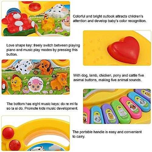 fb050852c6f4 Generic Coolplay Baby Kids Toddler Musical Educational Animal Farm Piano  Electronic Keyboard Music Development Kids Toy