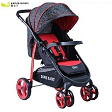 Deluxe Baby Stroller/Foldable Pram Portable Baby Stroller With Universal Casters