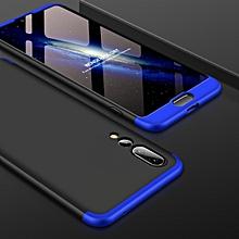 GKK for Huawei P20 Pro PC 360 Degrees Full Coverage Protective Case Back Cover (Black+Blue)