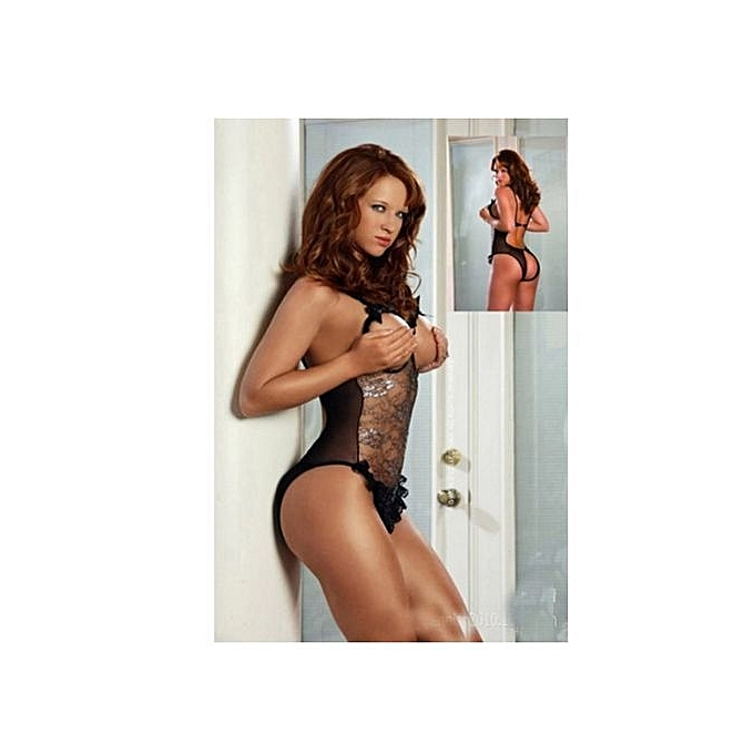 19b9b43a98ae Refined Sexy Lingerie Nightwear One-piece Temptation Suit Large Size  Transparent Sexy Women s Pajamas-