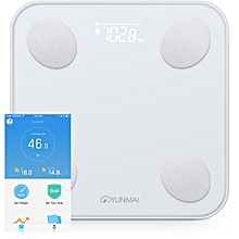 Mini 2 Balance Smart Body Fat Scale Intelligent Data Analysis APP Control Digital Weighing Tool - White
