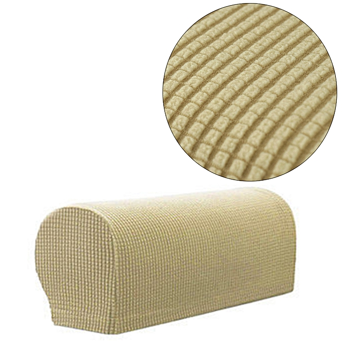 Generic Set Of 2 Armrest Covers Stretchy Chair Couch Sofa Arm