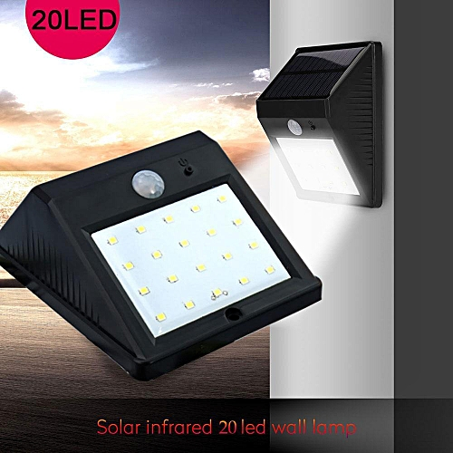 Modern Kobwa Waterproof 20 LED Solar Motion Sensor Lights Outdoor Wireless Security Wall Deck Light With 4 Style - Style Of best outdoor motion sensor lights Unique