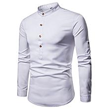 Men Shirts Short Sleeve Formal Shirts - White