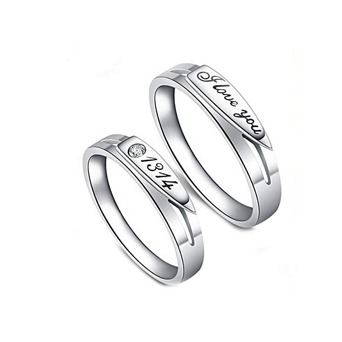 Buy Fashion 2pcs 1314 Men And Women Opening Ring Couple Rings