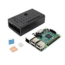 3 In 1 Raspberry Pi 3 Model B Board + Black ABS Case Shell Housing + Aluminum Copper Heat Sink Kit