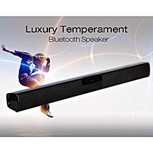 Long Sound Speakers Phone Wireless Bluetooth Speakers Soundbar TV Stereo Speaker-Black