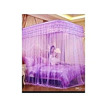 Mosquito Net With 2 Stands - 4x6- Purple