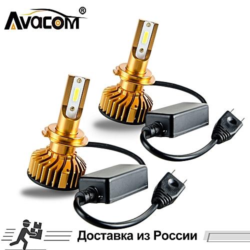 2 Pcs LED H7 H1 Mini Ice Car Headlight Bulb 12000Lm LED H11 9005/HB3  9006/HB4 9012/Hir2 6500K 12V 24V 72W LED H4 Lampada(2Pcs 6500K 12000Lm)