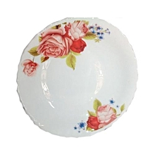 6 in 1 high quality dinner plates-white with rose flowers