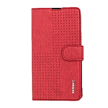 X507 - Leather Flip Case - Red