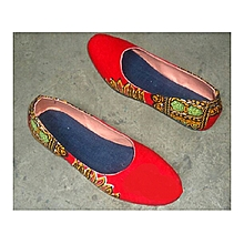 Ankara doll shoe