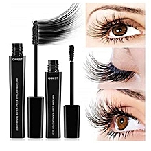 Silk Fiber Lash Mascara, Mascara Cream Makeup Lash, Natural Ingredients Mascara for Thickening & Lengthening, Last All Day & Waterproof.