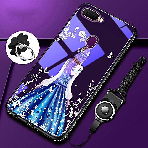 finest selection 5fd1e a4c2e Luxury Blue Light Tempered Glass Case For OPPO F9 / F9 Pro 6.3