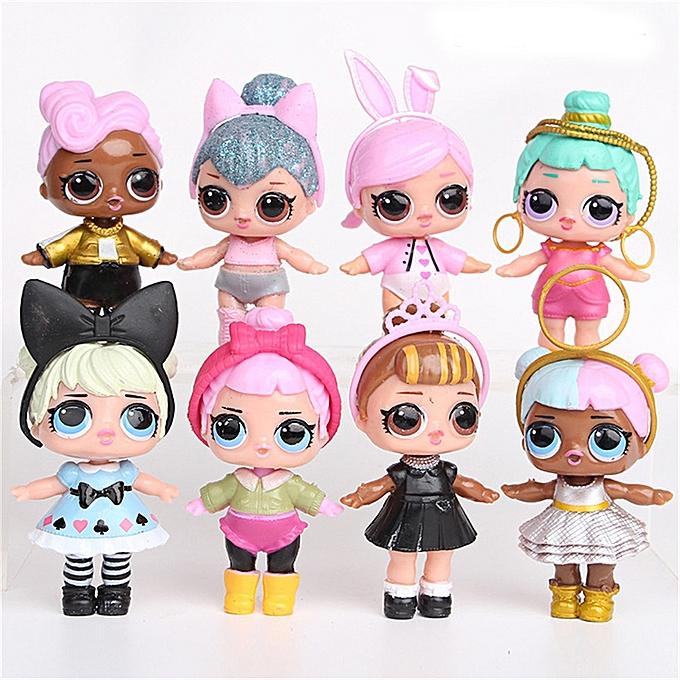 A Set 8 Pcs Lol Surprise Doll Surprise Mystery Xmas Toy Surprise Doll