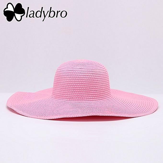 ac547f8d Wide Brim Floppy Kids Straw Hat Sun Hat Beach Women Hat Children Summer Hat  UV Protect