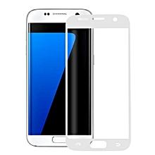 For Galaxy S7 Edge / G935 Ultrathin Colorized Silk-screen TPU Full Screen Protector Film(White)